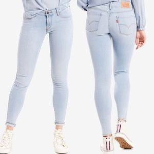 Levi's 710 super skinny jeans light wash -size 24